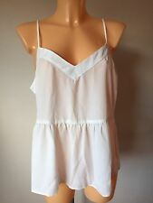 ASOS Soft Gathered Pretty Cami Top Ivory UK 14 EU 42 US 10 (G60/3)
