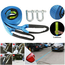 Car Tow Strap Tow Rope Cable Trailer Towing Strap Heavy Duty 8Tons w/Safty Hooks