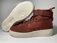 Nike GS Shoes Size 6.5Y SF AF1 Air Force 1 Mid Pueblo Brown AJ0424-201