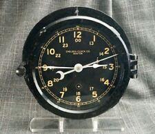 Vtg Chelsea Ship's Clock Bakelite Case