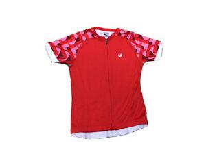 Bontrager Women's Red  Race S/S Cycling Jersey Size Medium Full Zipper