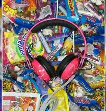 Custom Cans UV Neon Pink with White Splatter Sennheiser HD25 DJ Headphones