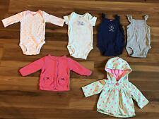 Lot of 6 Girls Infant Baby Carter's Jacket One Piece Snaps Shirts 3M B13