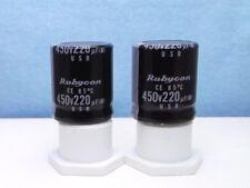 2x Rubycon Capacitors, 220uf, 450v, Nos