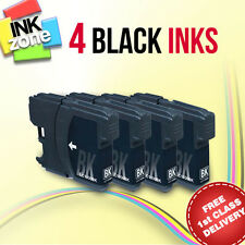 4 BLACK Compatible Ink Cartridges Brother DCP-165C DCP-195C (LC980BK LC1100BK)