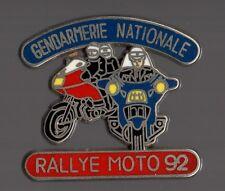 Pin's police / gendarmerie nationale, rallye moto 92 - qualité zamac
