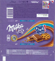 Plastic Chocolate Wrapper / Schokoladenpapier: Milka Chips Ahoy 100g Balkan 2015