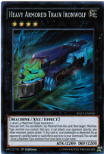 RATE EN050 1ST ED 1X HEAVY ARMORED TRAIN IRONWOLF SUPER RARE CARD