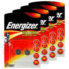 8 x Energizer 357/303 batteries Sillver oxide SR44 SR1154SW SR1154W EXP76 1.55V