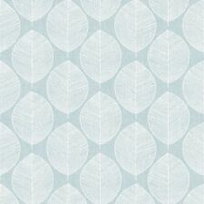 Verde Azulado Scandi Hoja Papel Pintado - Arthouse 908201