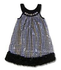 New Boutique Lipstik Girls sz 6 Black Jewel Sequins Dress Holiday Christmas $90