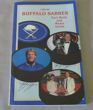 Original NHL Buffalo Sabres 1985-86 Official Hockey Media Guide