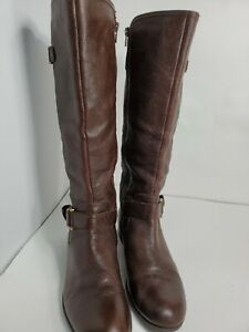 "Naturalizer No Comfort womans 16.5"" Height 1"" platform boots Choco brown    9.5M"