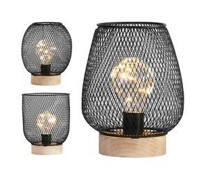 Battery Operated LED Desk Lamp Industrial Retro Light Up Bedside Lantern Home