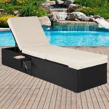 Deuba Chaise longue 1 personne canapé-lit réglable polyrotin 195x60cm - Jardin