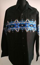 Country & Western Shirt By Cumberland Outfitters Size: L Aztec Print Cowboy Stag