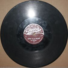 BO DIDDLEY Pretty Thing BRING IT TO JEROME  Blues Shellac 78 rpm on CHECKER 827