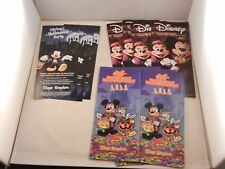 """2017 MICKEY'S NOT SO SCARY HALLOWEEN PARTY MAPS 6 & TIMES 5 & FLYER 3 """"NEW"""" BAG"""