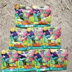 (9×)Trolls Hasbro Mini Figure Random Blind Bags Party Hair Series 9 No Duplicate