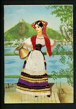 Embroidered clothing postcard Artist Gumier Italy woman costumes Umbria