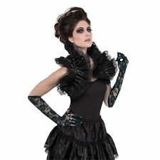 Gothic Ruffled Shrug Burlesque Capelet Halloween Womens Fancy Dress Costume