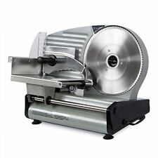 """Commercial Electric Meat Slicer Blade Deli Cutter Veggies Kitchen Silver 8.7"""""""