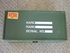 Gi Joe vintage Footlocker very clean with miscellaneous equipment