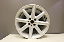 "1 GENUINE MINI R131 17"" LIGHT ALLOY WHEEL DOUBLE CROSS SPOKE SILVER DIAMOND CUT"