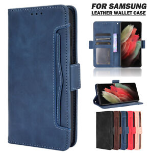 For Samsung S21/S20 FE Note20 S10 Ultra Plus Leather Wallet Case Card Flip Cover