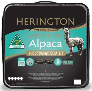 Australian Made Herington Alpaca Wool Blend Duvet | Doona | Quilt | Low Allergy