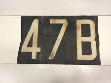 "Dublin Ireland Bus Blind 17"" x 11""- Very Rare Transport History Number - 47b"
