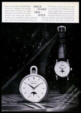 1960 Patek Philippe Perpetual Calendar moon phase watch photo vintage print ad