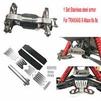 1 Satz Edelstahl Chassis Skid Plate Schutz für RC 1/5 TRAXXAS X-Maxx Xmaxx 6s 8s