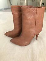 Loeffler Randall Tan Ankle Boots Size US 8.5 (uk 38.5/6)