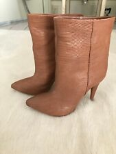 Loeffler Randall Tan Ankle Boots Size US 8.5 (uk 38.5/6)