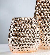 Design Vase Dekovase Blumenvase Keramikvase Deko Vase Porto 24 cm kupfer