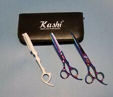 "Student Cutting & Thinning Shears Scissors Set 7"" Japanese Steel Case & Razor"