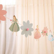 Flower Bunting Banner Wedding Party Garland Princess Baby Shower Ornament LD