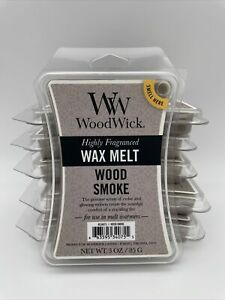 NEW WOODWICK HIGHLY SCENTED WOOD SMOKE WAX MELTS 3 OZ. - LOT OF 6 PACKAGES