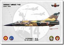 Mirage F-1CE Aviation Art Spanish Air Force Ejército del Aire España Spain Print
