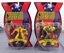 "Marvel Comics Generation X Men PHALANX & JUBILEE 5"" Action Figures ToyBiz 95 NIP"