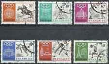 Timbres Sports JO Rwanda 263/8 o lot 28933