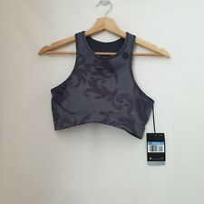 Nike Grey Print Swoosh Racerback Sports Bra Medium Support Size Medium