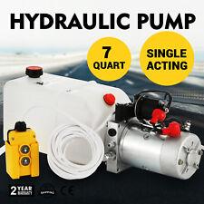 12v 7l Pompe hydraulique 2000w 180 Bar Effet Unique Réservoir Pack Lourd Kit