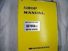 KOMATSU  GD705A-3 SERIES  MOTOR GRADER  SERVICE MANUAL 30001-UP