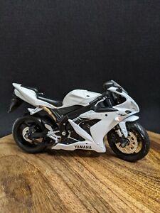 Maisto 1:12 Yamaha YZF R1 Motorbike Motorcycle White Diecast Model Toy * Missing