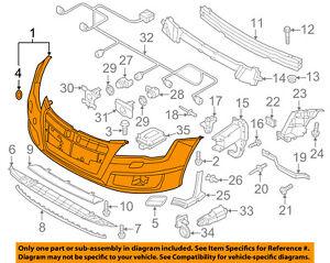 AUDI OEM 12-15 A7 Quattro-Bumper Cover 4G8807065AHGRU