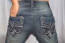 New Men AFFLICTION Black Premium Blake Jeans Color Frisco Size 32