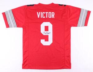 Binjimen Victor Signed Ohio State Buckeyes Jersey (JSA COA) New York Giants W.R.