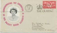 """2451 1953 QEII Coronation 2 1/2d FIRST DAY """"LONDON L - LONG LIVE THE QUEEN"""""""
